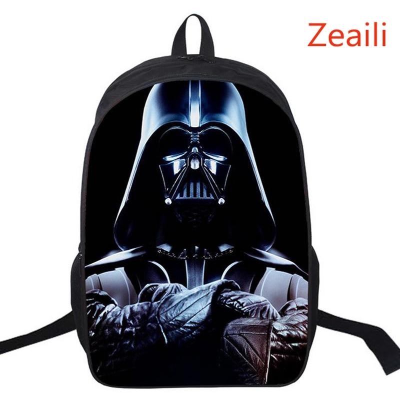 16 Inch Kids Rugzak Star Wars Schooltassen voor Jongens Satchel Cartoon Orthopedische Darth Vader Kinderen Rugzakken Mochilas Infantis