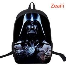 16 Inch Kids Backpack Star Wars School Bags For Boys Satchel Cartoon Orthopedic Darth Vader Children Backpacks Mochilas Infantis