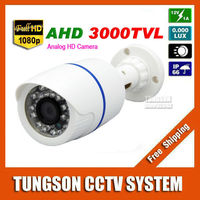 New HD 2MP AHD 1920 1080P CCTV Camera 3000TVL Outdoor Waterproof 24led Infrared White Mini Bullet