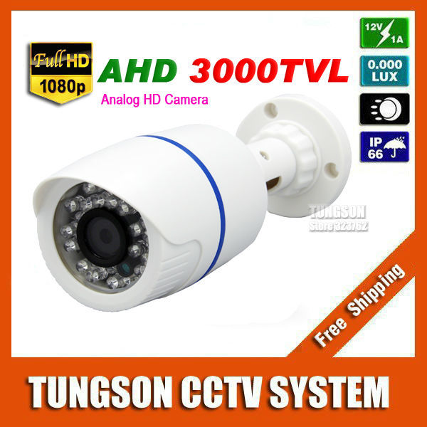 New HD 2MP AHD 1920*1080P CCTV Camera 3000TVL Outdoor Waterproof 24led infrared White Mini Bullet Security Surveillance Cam new 2mp hd cctv ahd camera 1080p zoom 2