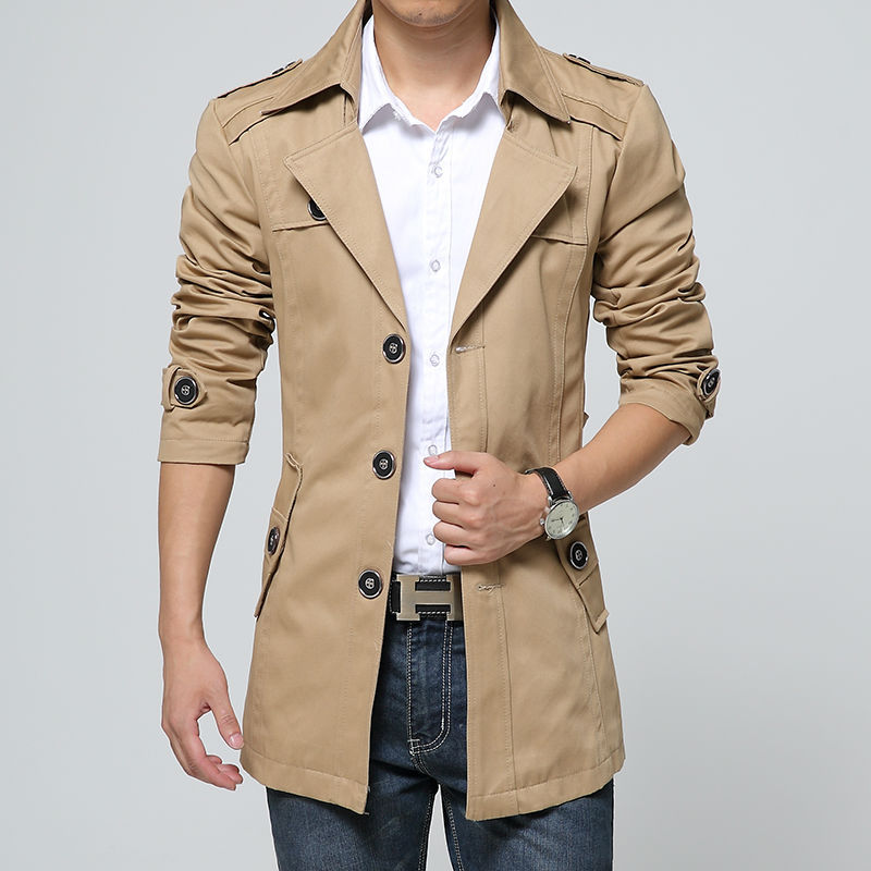 Aliexpress.com : Buy Outerwear trench coat men high quality Mens ...