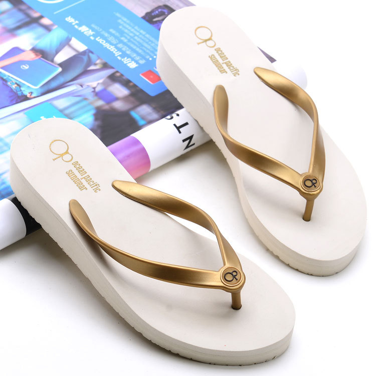 dc8df00375ee summer women new beach flip flops ladies high heel fashion sandals wedge  shoes femal casual outdoor platform slippers-in Slippers from Shoes on ...