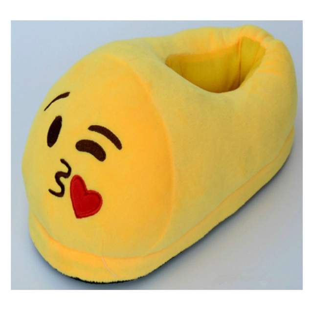 Funny Indoor Emoji Slippers Plush Children Home Shoes Couples Christmas Easter Gift Wooden Floor Slippers For Adult Women Men