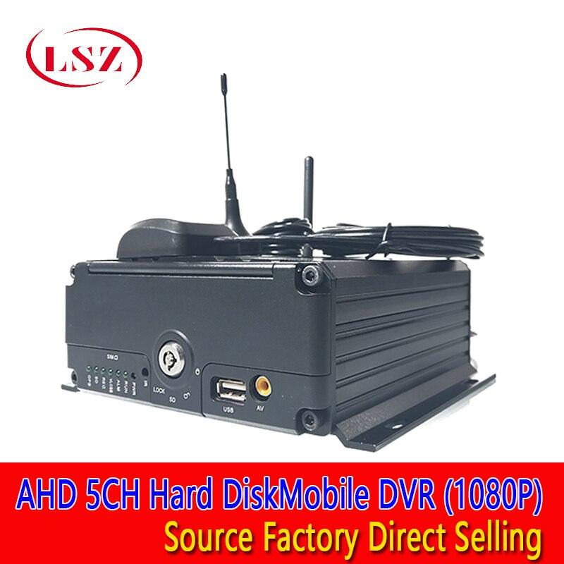 Vendas direto da fábrica 5ch remoto de vídeo real-tempo de localização móvel do disco rígido DVR 3G GPS WIFI semi reboque 1080 P hd monitoramento de host