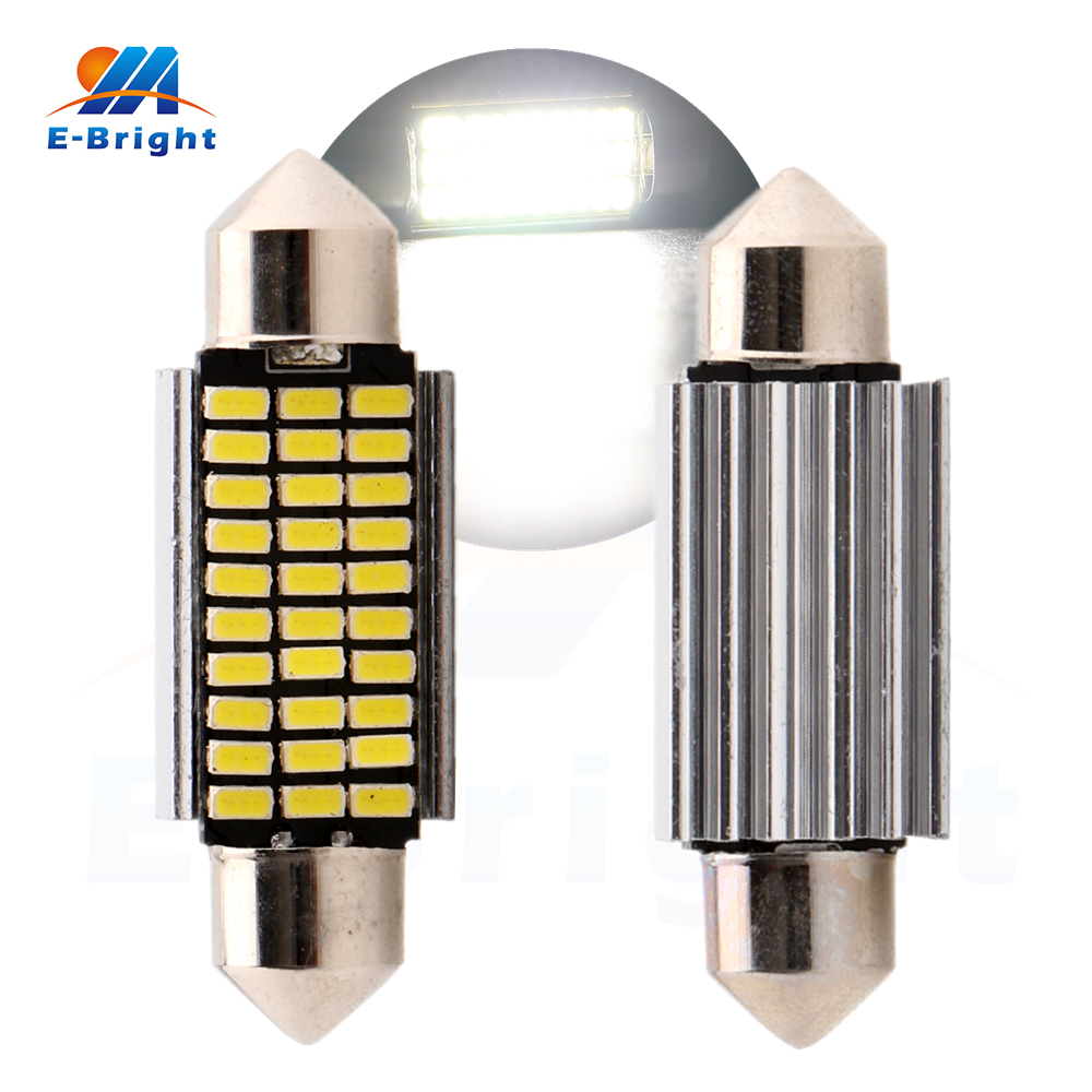 4-200pcs 39mm Festoon C5W Canbus 3014 30 SMD LED Bulbs Light Pate Number Light Reading L ...