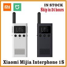Smart walkie talkie xiaomi mijia original, com rádio fm, alto falante, standby, aplicativo de telefone inteligente, compartilhar, falar em equipe rápida nova varal