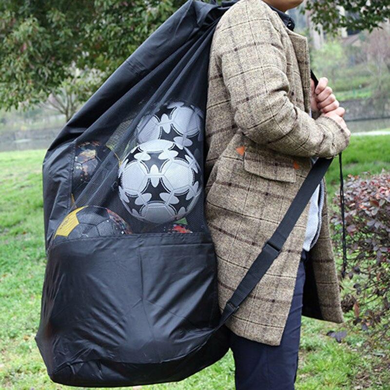 Balls Adjustable Sliding Drawstring Shoulder Strap Bag For Basketball Volleyball Football Soccer Storage Bag Pocket