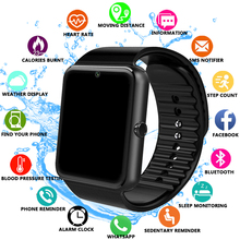 GT08 Smart Watch Bluetooth Men With Touch Screen Smartwatch Big Battery Support TF Sim Card Camera For IOS iPhone Android Phone dhl free shipping kw18 smart watch phone with sim tf card mp3 smartwatch for android ios smartphone 340mah battery 1 3 ips