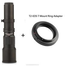 Lightdow 500 мм F8.0 Объектив Ручной Зум с T2-Cannon Т Крепление для Canon T4i T3i T3 7D 60Da T2i XSi XS XTi DSLR Камеры