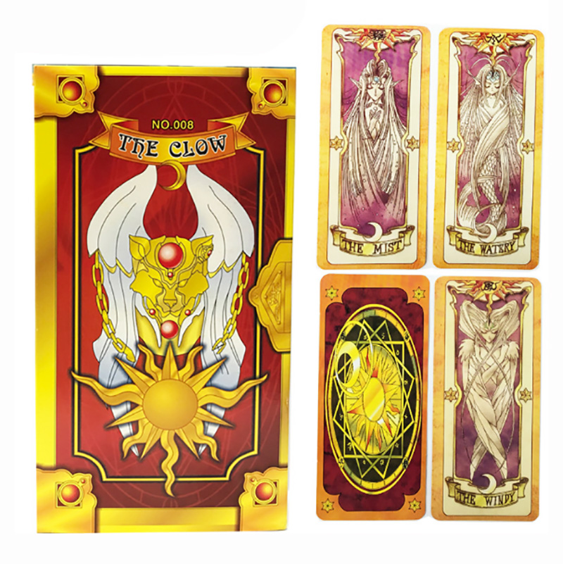 Anime Cardcaptor Sakura Clow Card cosplay SAKURA Card Captor Sakura Cards Tarot Chinese/English Edition for Astrologer with Box image