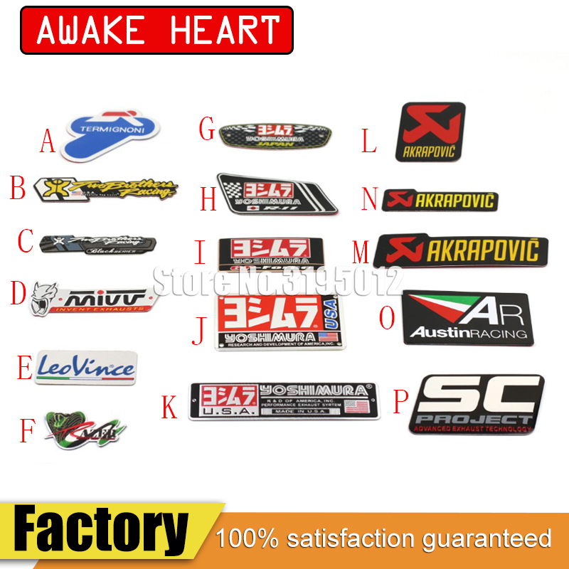Two Stickers Exhaust-Pipes Leovince Motorcycle AKRAPOVIC Decal Yoshimura Car Cbr Mivv