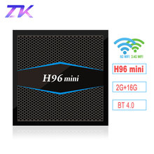 H96 mini Android 7.1 TV Box 2G DDR3 16G Amlogic S905W Quad Core 2.4G/5G Dual Band WiFi BT4.0 H.265 UHD 4K H96mini Smart TV Box