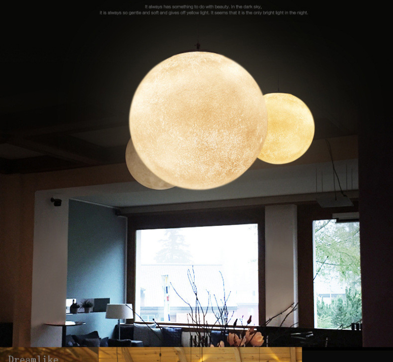 European Style New Moon Shape LED Pendant Lamp Bedroom