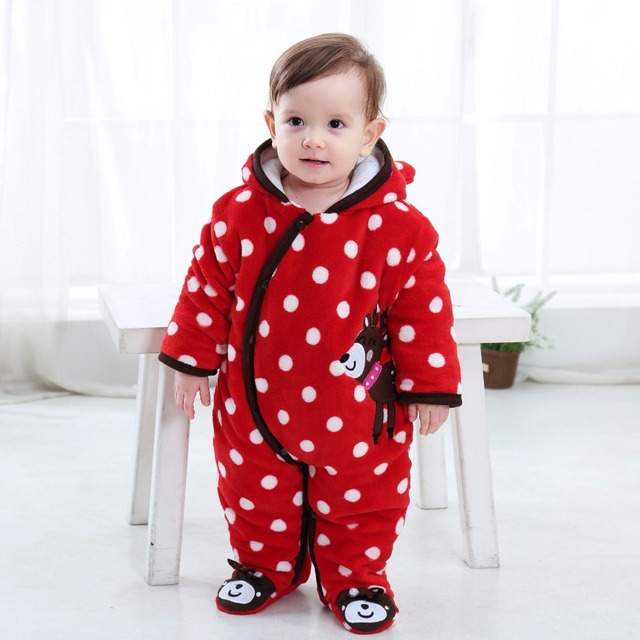 1baf46071e0 (KID STATION) baby boy girls rompers Baby Winter clothes newborn baby Cow  Bee Jumpsuit Girl Clothing Set Baby Roupas