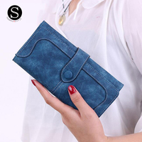 Womens Wallets And Purses 2016 Long Credit Card Holder Wallet Women Luxury Brand Portefeuille Femme De