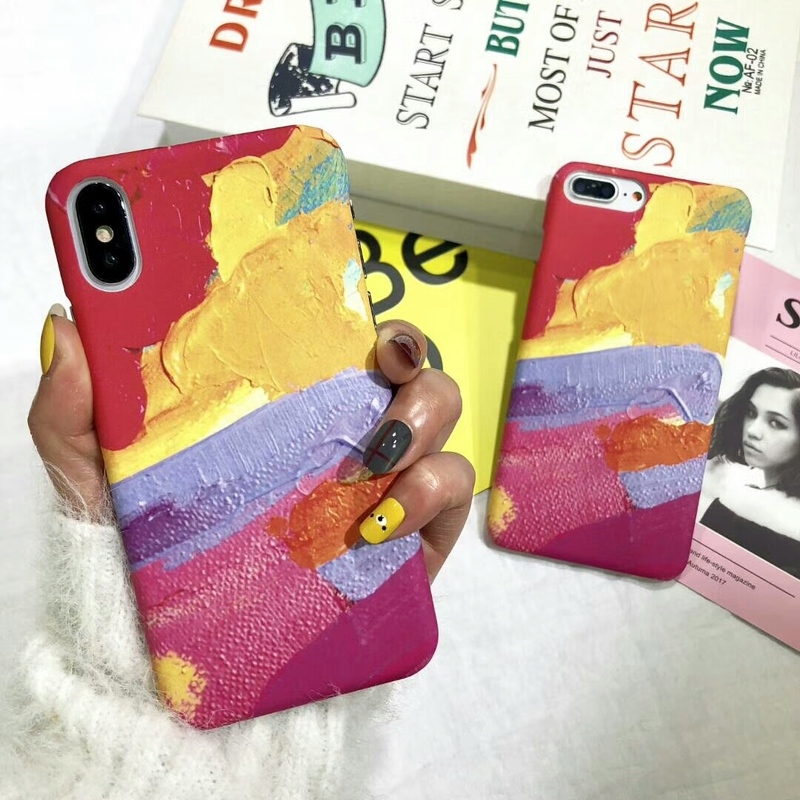 BROTOLA Brand For iPhone 6 Case iPhone 7 Case Painting Graffiti Hard PC Phone Cases For iphone X 6s 7 8 Plus Back Cover