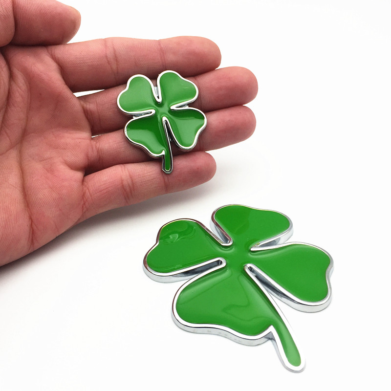 YONGXUN Green Clover Day Badge FOR Alfa Romeo Four Leaf Clover Chrom Metal Car Styling Emblem Sticker Love Healty Lucky Symbol vinyl four leaf clover decorative wall art sticker