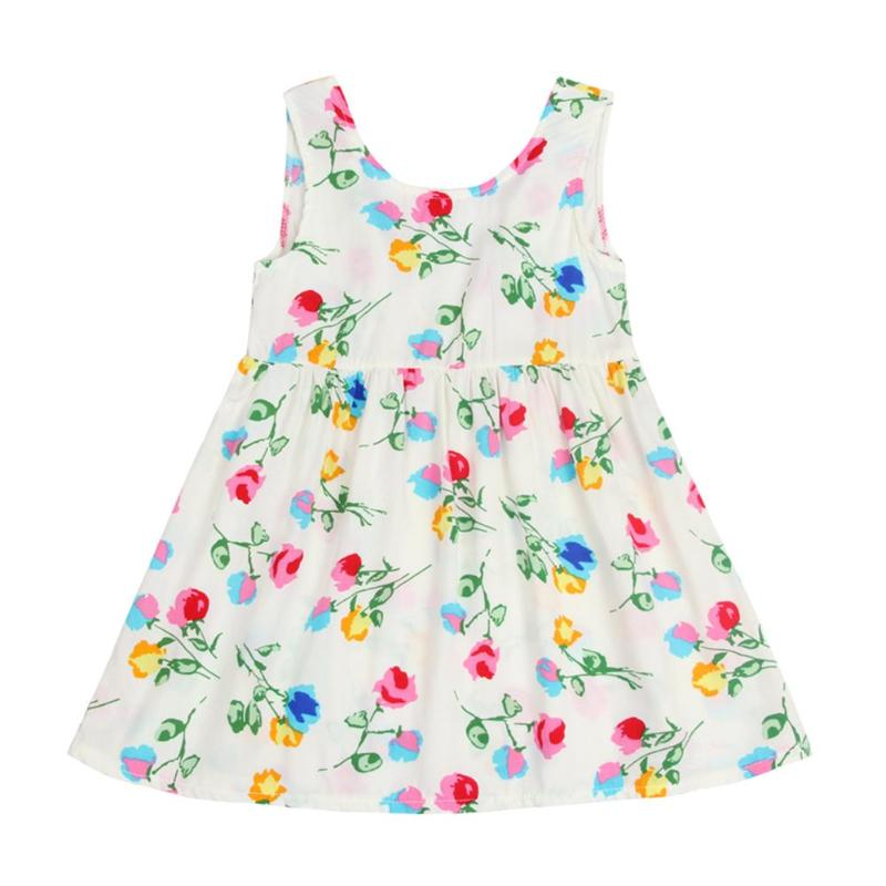 Summer Lovely Baby Kids Girl Dress Toddler Princess Party Floral Print Tutu Dress 2018 for Girls Clothes Kids Dresses Girl Cloth