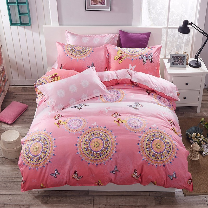 Home Textile Famous Landmark Style 3/4pcs Bedding Sets Duvet Cover Bed Sheet Pillowcase  ...