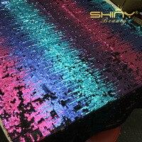 Grande Vente Chaude!! coloré Scintillant Complet Embrodiery Sequin Mesh Lace Sequin Tissu Par La Cour pour Événement De Mariage Robe Décoration