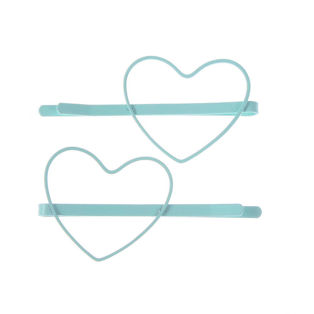 Купить с кэшбэком 2pcs Cute Candy Color Kid Girl Hairpin BB Heart Hair Clips Hair Accessories Gift Hairpins Headwear forWomen Girls Hair Clips Pin