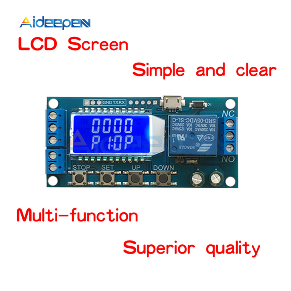 6-30V LED Digital Display Delay Relay Trigger Time Circuit Timer Control Cycle Adjustable Switch Relay Module Time-delayed Relay6-30V LED Digital Display Delay Relay Trigger Time Circuit Timer Control Cycle Adjustable Switch Relay Module Time-delayed Relay