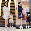 Family matching mother daughter dresses clothes  Chiffon printing mom and daughter dress kids parent child outfits high quality