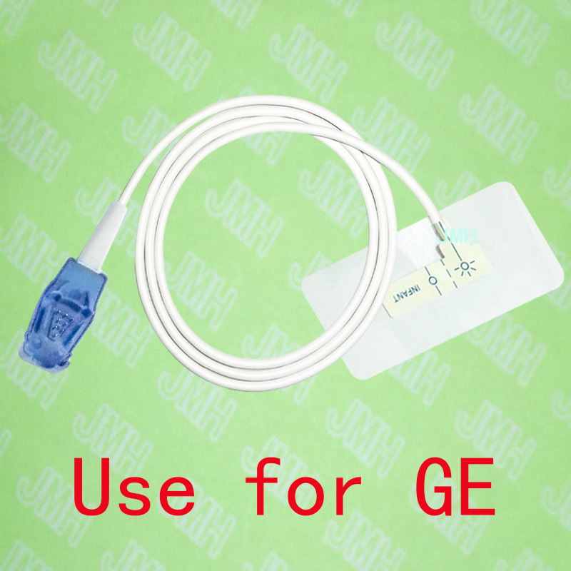 Compatible 8pin GE Pulse Oximeter monitor the Infant baby disposable SPO2 sensor(White Foam),5 pcs.