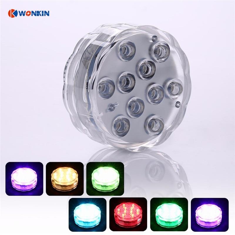 4 հատ հատ մոդուլային ստորջրյա անլար - LED լուսավորություն - Լուսանկար 4