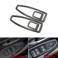 For BMW 3 Series 118i 320i 2013 2014 2015 4pcs Carbon Fiber Car Door Handle Window Lift Switch Cover Trim Decoration Sticker