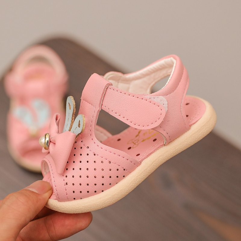 Baby Sandals For Girls Summer Shoes Cute Toddler Shoes With Bow Kids Baby Princess Shoes Children Soft Bottom Infant Sandals