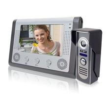 """Envío gratis 7 """" TFT Color Video de la puerta teléfono sistema de intercomunicación del timbre Kit IR cámara del monitor manos libres de intercomunicación"""