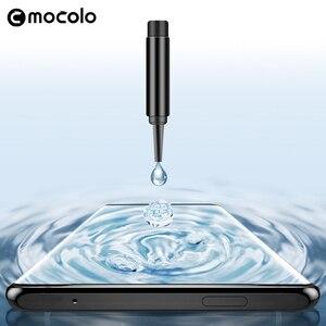 Image 4 - Für Oneplus 7 Pro Screen Protector Mocolo 7T Pro Volle Flüssigkeit Geklebt Gebogene UV Gehärtetem Glas für OnePlus 8 pro Screen Protector