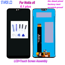 Original Display For Nokia X6 LCD Screen X6 LCD Display Touch Screen Digitizer For Nokia 6.1 Plus LCD Replacement