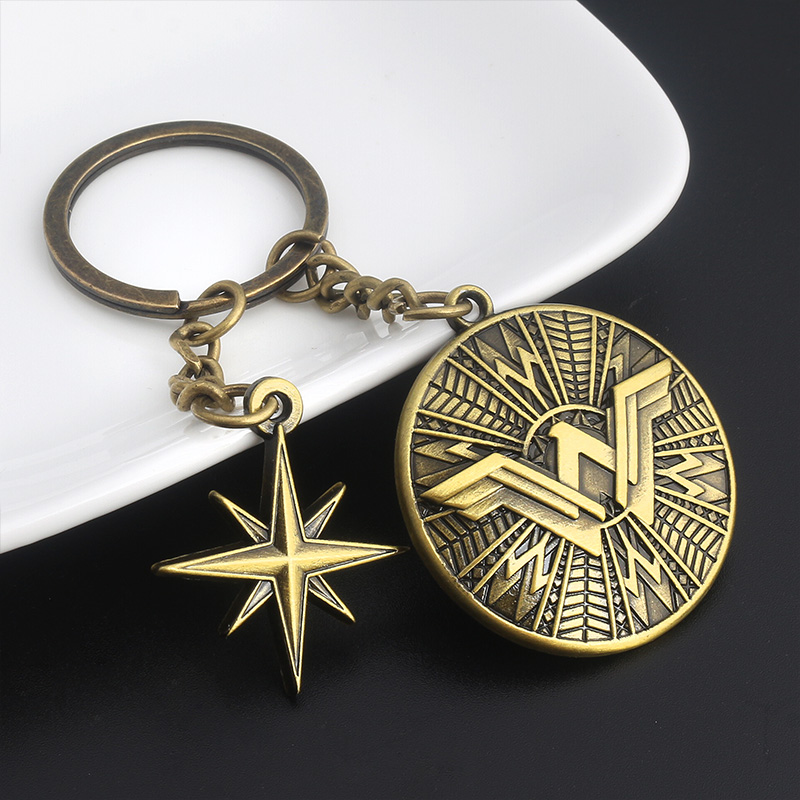 High Quality Superhero Wonder Woman Logo Fashion Keychain For Fans Gift Jewelry
