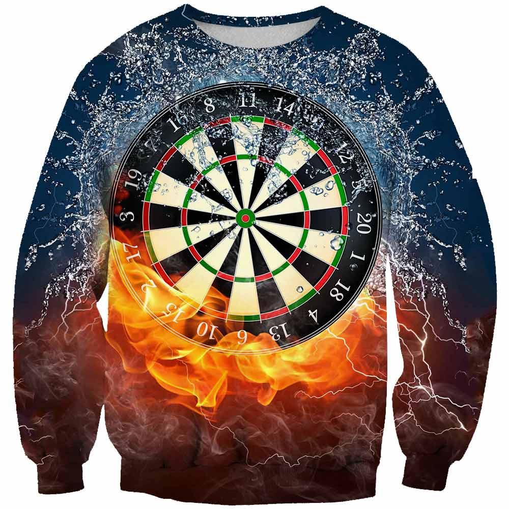 2019 Spring And Summer  new Men/Women Street Hip Hop 3D Printing Darts Target Hoodie Loose Men And Women Couple  Asian size 6XL