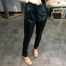 New Slim Genuine Sheep Leather Pants