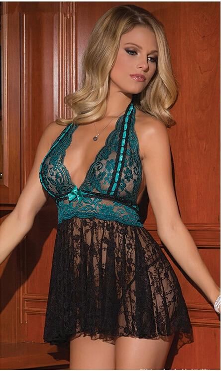 2018 Ny høj kvalitet sexet lingeri dames kniplinger kjole kvinder glider M-XL-XXL-XXXL Gratis shopping!