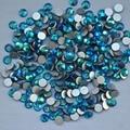 Azul Zircon AB ss3, Ss4, Ss5, Ss6, Ss8, Ss10, Ss12, Ss16, Ss20, Ss30 cristal de volta plana não Hotfix Nail Art cola em strass