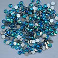 Blue Zircon AB ss3, ss4, ss5, ss6, ss8, ss10, ss12, ss16, ss20, ss30 posterior plana del Hotfix no Nail Art pegamento en los Rhinestones