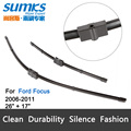 "Wiper blades for Ford Focus (2006-2011) 26""+17"" fit side pin type wiper arms only, Not hook arms"