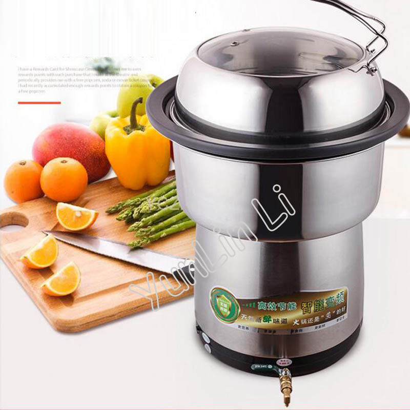 Commercial Electric Hot Pot Multifunctional Steam Hot Pot Stainless Steel Cooking Pot BST-2800 traditional carbon burning charcoal hot pot thickened hot pot furnace boiler stainless steel hot pot furnace for 6 9 people