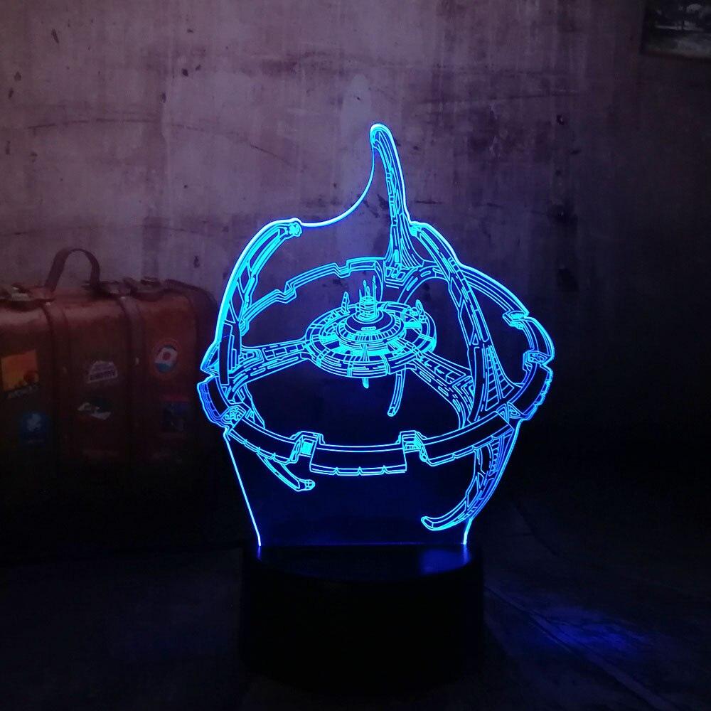 Новый 2018 3D светодиодный ночник Сокол Тысячелетия свет Звездные войны 7 цветов изменить USB для детей подарок на Рождество Decrorations для дома