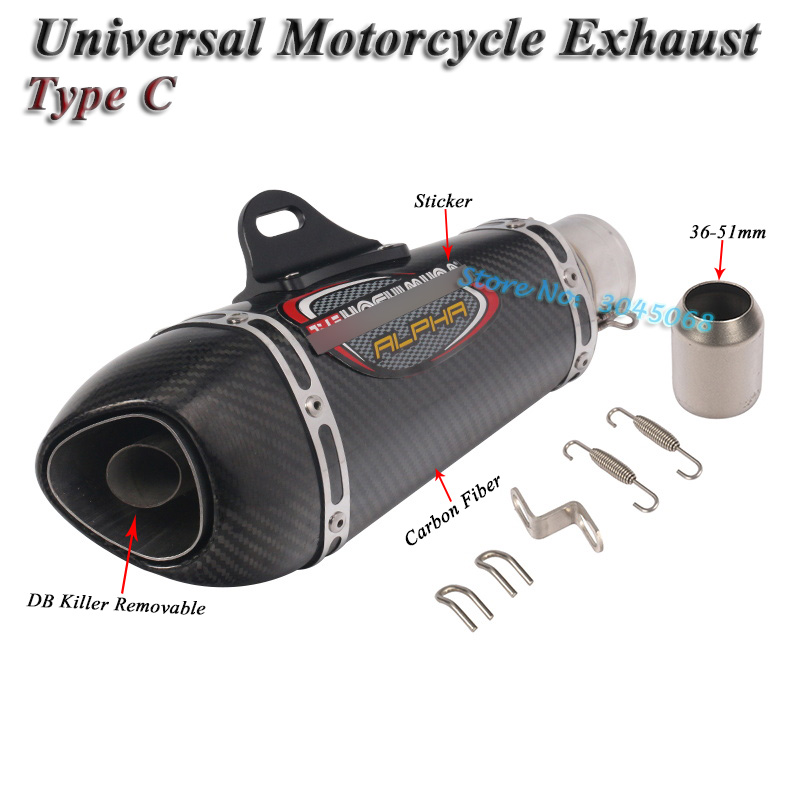 Image 4 - Universal Motorcycle Yoshimura Exhaust Pipe Escape Modified Carbon Muffler DB Killer Silencer For Ninja 400 GSXR600 K6 KTM R15-in Exhaust & Exhaust Systems from Automobiles & Motorcycles