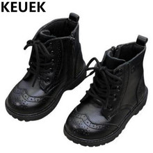 NEW Autumn/Winter Baby Genuine Leather Boots Children Shoes Kids Ankle Boots Motorcycle Snow Boots Boys Girls Martin Boots 044