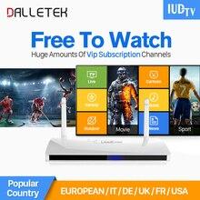 Dalletektv LEADCOOL Smart IPTV Android TV Set Top Box French Portugal IPTV Arabic Europe IUDTV 1700+ Channels 1 Year IPTV STB
