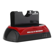 CAA-All in 1 HDD Docking Dual Double 2.5» / 3.5» SATA USB 3.0 Dock Station USB 3.0/2.0 US Plug