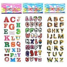 Cute English letters digital Cartoon bubbles stickers English alphabet A Z DIY Wall stickers For Kids