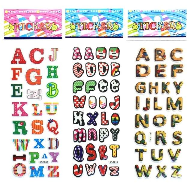 cute english lettersdigital cartoon bubbles stickersenglish alphabet a z diy wall