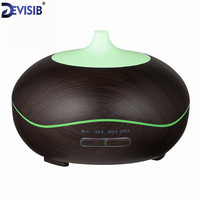 FEA 300ml Essential Oil Diffuser Wood Grain With Chroming Top Ultrasonic Aroma Cool Mist Humidifier For